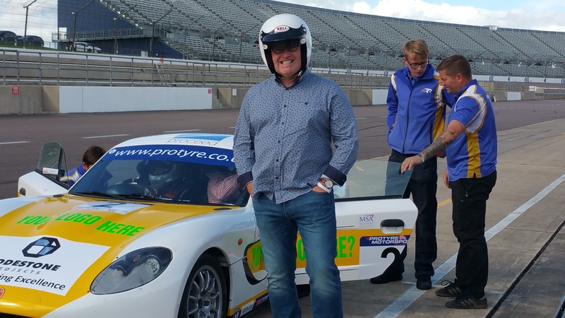 VIP guest fast laps at Ginetta Funday